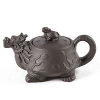Promotion! Top Grade Purple Clay Tea Pot  Purple Grit Turtle and Dragon Teapot  Chinese Violet Arenaceous  Free Shipping