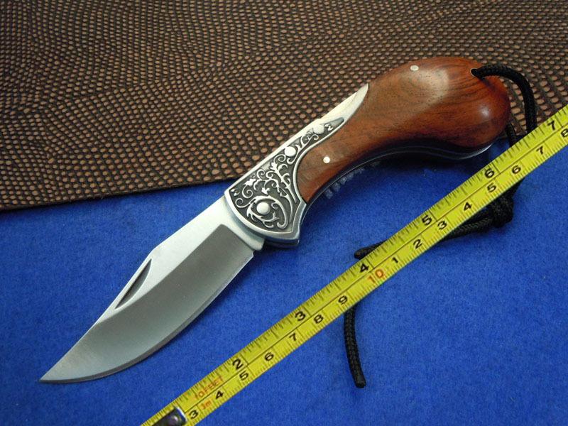 BODA 420 Blade Wood Handle Camping Fishing Pocket Folding Knife BD04(China (Mainland))