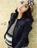 Free shipping fashion Pearls love hearts wool Beret winter warm decorative caps women Hat