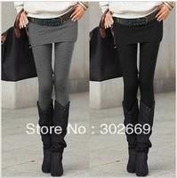 2304 women's pantskirts Leggings and skirt  warm elastic  tight pantskirt 10pcs/lot  free shipping