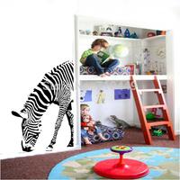 Free shipping Zebra vinyl decorative wall sticker animal home wall decal