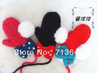 New design Christmas gift fashion handmade crochet baby gloves knitted mittens