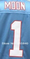 Free Shipping #1 Warren Moon Throwback Jersey,American Football Jersey,Embroidery and Sewing logo,Size M--3XL,Mix Order