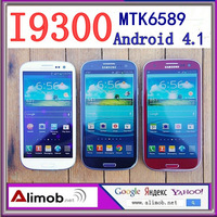 "Original release of HOT mobile phone 1:1 I9300 S3 MTK6589 4.7"" Android 4.1 3G GPS WIFI 960*540 8MP camera selling.free delivery"