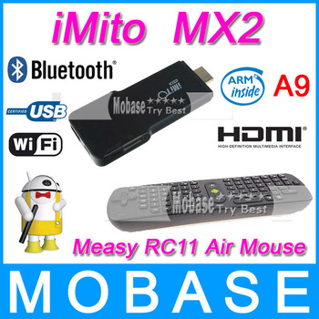 [Free Measy RC11 Air Mouse]iMito MX2 Google TV Box RK3066 1G/8G Android 4.1 Dual Core Cotex A9 Quad-Core GPU Bluetooth WiFi HDMI