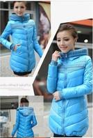 2013 down cotton cotton-padded jacket hot-selling slim medium-long women's plus size wadded jacket cotton-padded jacket female
