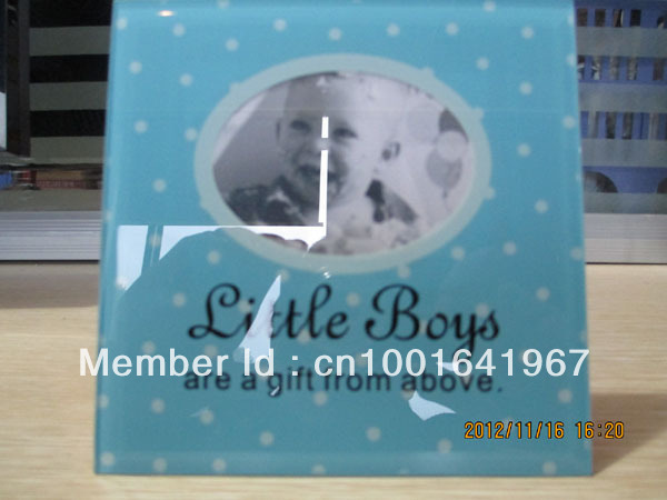 Glass photo frames for Littler Boys--Dad & Mum loving forever(China (Mainland))