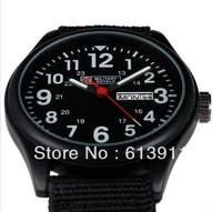 Military Royale Men's Black Fabric Strap Swiss Design Date Sport Army Watch MR051