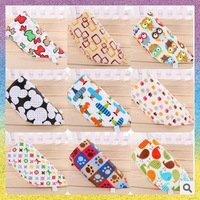 [baby bib]Free Shipping 10pcs/lot B1089 Triangular bandage unique design multifunctional independent towel Cotton saliva towel