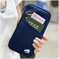 2012Credit card identity card holders cash purse passport Pouch travel bag Card bag Free shipping