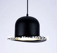 novelty product lamps design 220v 110v e27 Jeeves Wooster Fashion bowler hat chandelier round aluminum hat residential lighting