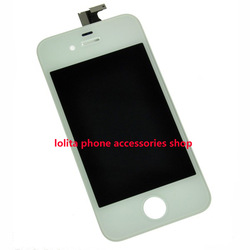 Crazy Promotion:high quality replacement for iphone 4 4g lcd display +touch +frame assembly White/Black in stock(China (Mainland))