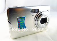 12.1Mega Pixel digital camera 2.7''Screen Rechargable LithiumIon Battery AC Charger Free camera bag free shipping(FE2CD)