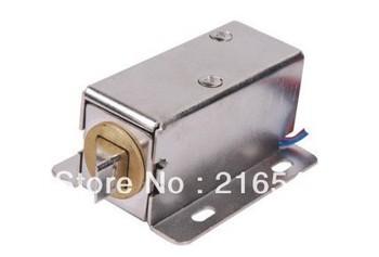 Free shipping 12V  cabinet lock / electronic lock electric lock (12V bevel latch) file cabinet storage cabinet dedicated