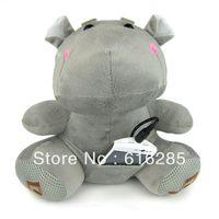 Plush Toy Speaker FM Radio Mini Speaker for MP3 MP4 Mobile Phone PC Laptop U Disk SD Card-Cute Cartoon Hippo
