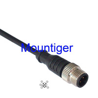 ES-MS5WLV055S /M12 male straight 5-wire Connector Mountiger Euro-style cable assembly for proximity switch 5 meter cable IP67