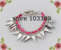 10pcs/lot good sell fashion accessories punk rivet leather bracelet/rivet bangle special offer