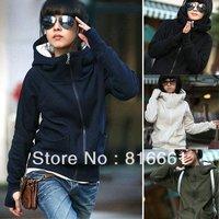 Hot Women Spring Hoodie Clothing High Neck Hooded Sweatshirts Coat Hoodies Outerwear Thin Type