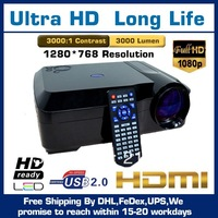 Full HD LCD Projector 1280*800 With Double HDMI USB VGA Buil-in Android System