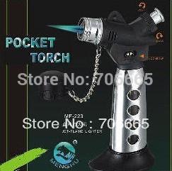 Refillable Pocket torch Spray Gun Jet Flame Butane Cigarette Lighter