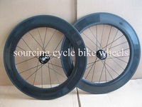 700c light track carbon wheels /3K glossy finish deep 88mm carbon fiber tubular wheels with Novatec fixed gear hubs
