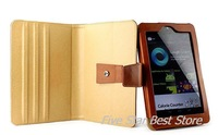 Top Quality! Genuine Leather Case Cover with Stand for Google nexus tablet 7 inch - Black / Brown Free shipping Singapore Packet