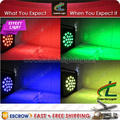 Free Shipping 18 x 3w RGB Tricolor LED Flat Par Light