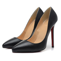Fashion Quality Sheepskin Shoes Pigalle Red Bottoms Pumps Pointed Toe Pigalle 120mm Pumps