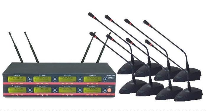 100% New UHF Wireless Free Shipping 8x100 CH UHF Wireless Gooseneck Condenser Conference UHF Microphone Mic System(China (Mainland))
