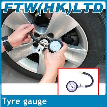 10pcs High quality tire pressure gauge, high precision,durable,unit:PSI & kg/cm2 Free Shipping