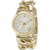 Free Shipping 2012 New Famous Brand wristwatch  M  watch  with calendar for women   stainless steel band 2pcs/lot