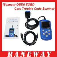 2012 New Arrival IScancar OBDII EOBD Cars Trouble Code Scanner Free Shipping