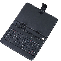 "Newest Free Shipping Leather Case USB Keyboard with bracket for 7"" 7 inch Tablet PC Android ePad MID ---BS7KB(China (Mainland))"