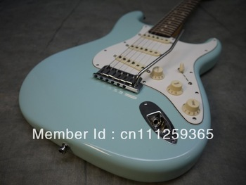 wholesale&retail sales Top quality thin ocean blue Electric Guitar  promotion,2012 new arrival,cheap guitar, Free shipping