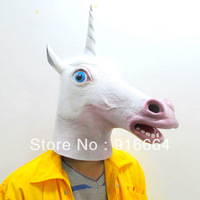 Creepy Magic Unicorn Mask Head Halloween Mask