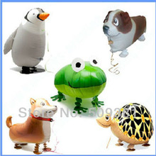 New Arrival! 50 pcs/Lot, Free Shipping, Wholesale, Various Aluminum Foil Helium Walking Animal Pet Balloons, Baby's Toy & Gift.(China (Mainland))