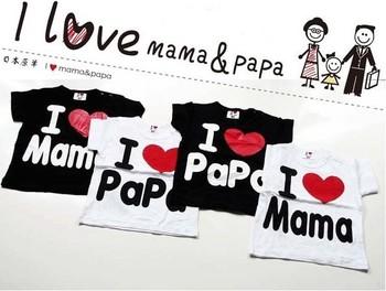 Free shipping Baby clothes, i love papa mama baby shirt/T-Shirt boy & girl Short-Sleeve Shirt,Infants & Toddlers T shirt