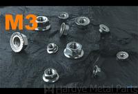 500pcs/lot DIN6923 M3 Stainless steel hex flange nut