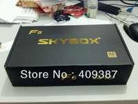 2013 newest 100% original model 10pcs/lot Dual-Core CPU satellite receiver, skybox F5 free shipping