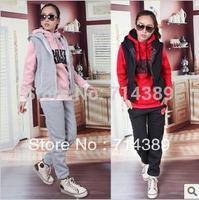 free shipping 2013 set sweatshirt autumn and winter sweatshirt fleece female sports casual set plus size outerwear female