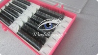 100% real mink eyelashes extensions 10trays per set wholesale mixed length tray 8-13mm individual eyelash extensions