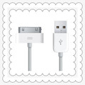 Good Quality Muitifunction White USB To Apple Interface Data Cable For Apple iPhone/iPad/iPod DA0153