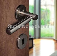 6pairs lot free shipping stainless steel modern door handle/handle/lever door handle/AISI 304