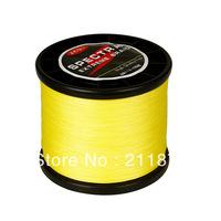 Free shipping  100% dyneema spectra braided fishing line 1000m yellow 6LB10LB15LB20LB30LB40LB50LB65LB80LB100LB