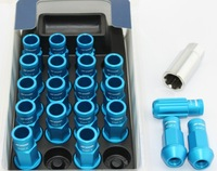 WORK RACING RS-R EXTENDED FORGED ALUMINUM  LUG NUTS 12X1.25  BLUE