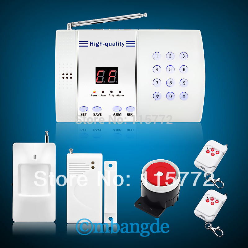 99 Zones Wireless PTSN Burglar Auto Dialer House Voice Dialing Security Home Alarm System Free Shipping(China (Mainland))