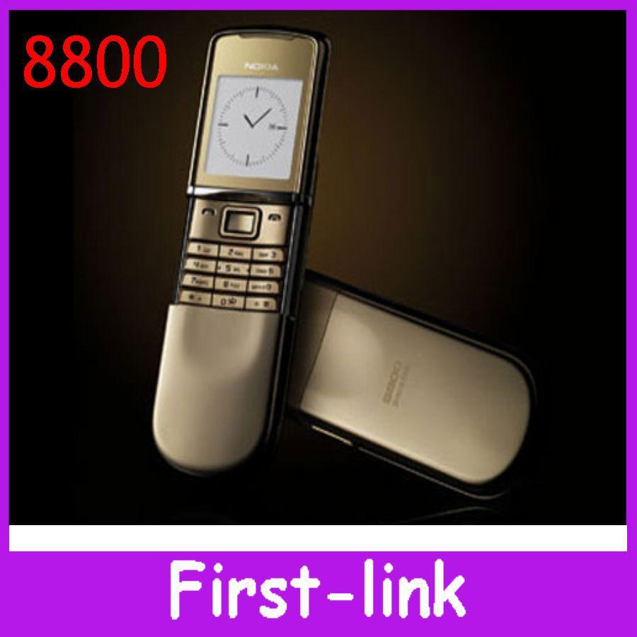 12 money wrranty Original Nokia 8800 sirocco russian keyboard unlocked phone 128MB internal memory Triband bluetooth headset(China (Mainland))