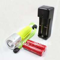 Waterproof 1600LM CREE XM-L T6 LED Diving Flashlight Torch Lamp 2 x18650 Charger