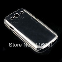 Wholesales Hard Plastic clear crystal transparent back cover cases for Samsung Galaxy S3 i9300 Free Shipping 20pcs/lot