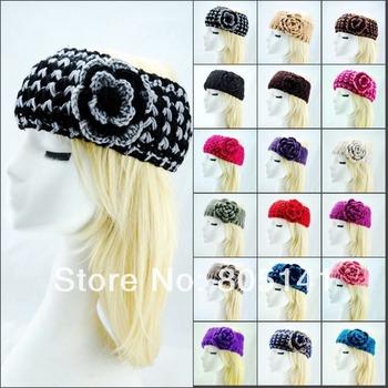 10 pcs/Lot  Head Wrap Cap Hand Knit Winter Headband Hair Accessoy Fashional Charming Froral warm headband